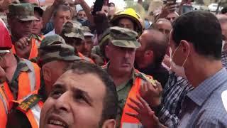 لقاء الرئيس الأسد مع أهالي بيت عركوش في مشتى الحلو وحديثه مع مجموعة من رجال الدفاع المدني
