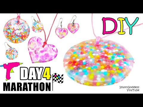DIY Jewelry Out Of Hot Glue, Sprinkles And Acrylic Paint - DAY 4 of 7-Day Marathon Of Glue Gun DIYs