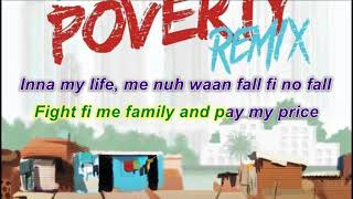 J Derobie X Popcaan Poverty Remix Lyrics (KARAOKE)