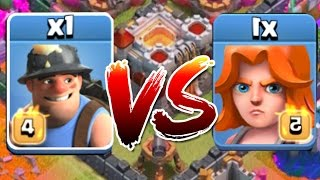 Clash Of Clans - MINER VS VALKYRIE!! (Which troop Comp is stronger?!?)