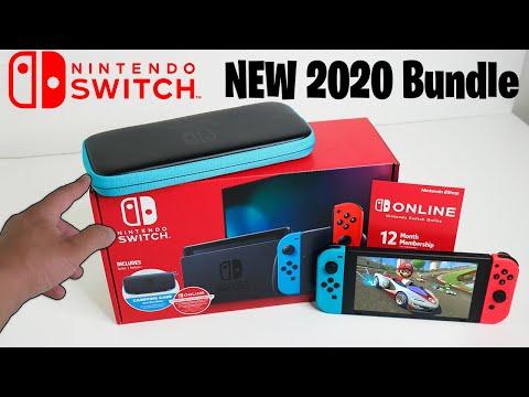Nintendo Switch NEW 2020 Holiday Bundle - Walmart Exclusive - Console + Case + Nintendo Online