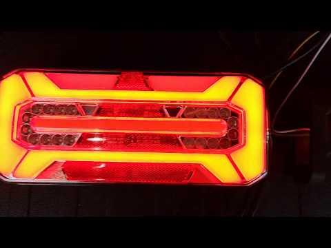 Neon Rück- und Begrenzungsleuchten mit dynamischen Blinker für einen PKW Anhänger