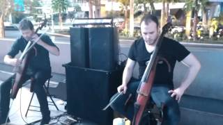 RealStreetPeople - Metallica - Master of Puppets ( Street Electric Cellist Cover)
