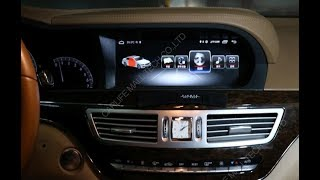 Installation for 10 25 inch screen gps for Benz S W221 with TV, android7