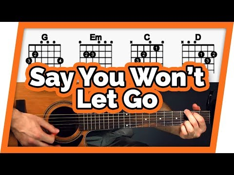 Say You Wont Let Go - Easy Chords Guitar Tutorial (Lesson) Mp3
