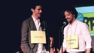 Christian Borle Serenades Drew Gehling in the Broadway Bee!