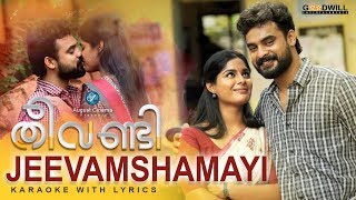Jeevamshamayi Karaoke With Lyrics | Theevandi Movie | August Cinemas | Kailas Menon | Shreya Ghoshal