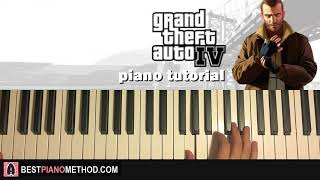 HOW TO PLAY - Grand Theft Auto 4 Theme Song (Piano Tutorial Lesson)