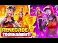 I Hosted a RENEGADE RAIDER ONLY Tournament for $100 in Fortnite... (sweatiest players ever)
