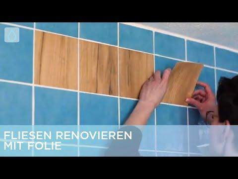 Fliesen renovieren mit Folie | Renovieren mit Elmar
