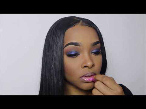 SOFT BLUE SMOKEY EYE W/ A BUBBLE GUM PINK LIP | UGLYCHRISSZYC