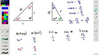 TRIG 1.11 Trigonometric Ratios Of Special Right Triangles Part 1
