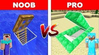 Minecraft - NOOB vs PRO : UNDERWATER BASE vs EMERALD SECRET BASE / Minecraft real life animation