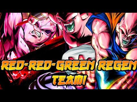 Infinite Team Buffs! Red-Red-Green Regen Team! | Dragon Ball Legends PvP