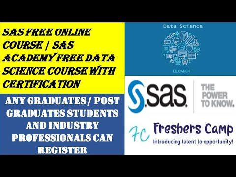 SAS Free Online Course   SAS Academy Free Data Science Course ...