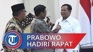 Prabowo Hadiri Ratas Bidang Polhukam, Sempat Bergurau Bersama Presiden Jokowi dan Menkeu Sri Mulyani