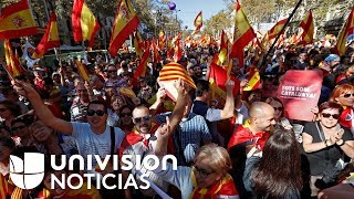 Manifestación en Barcelona a favor de la unidad de España