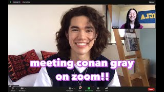 I won an EXCLUSIVE zoom call w/ Conan Gray!! + clips from Conan's Sirius XM Interview/Performance