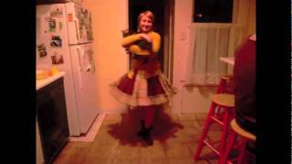 Sweet Girl Dances with Sweet Pea the One-Eyed Cat