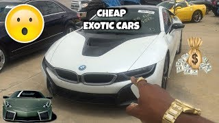 CHEAPEST PLACE TO BUY EXOTIC CARS 2018