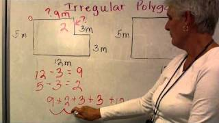 How to find the Perimeter & Area of Irregular Polygons