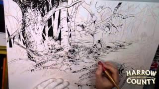 Harrow County Ink Art Time-Lapse