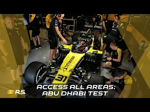 Image: WATCH: Renault F1 - Access All Areas: Abu Dhabi Test