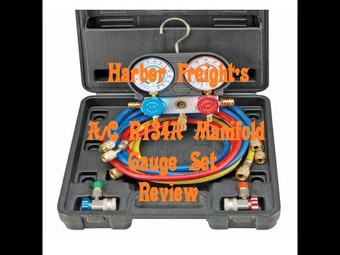 Review on Harbor Freight's A/C R134A Manifold Gauge Set