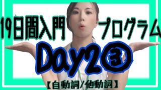 【英文法】19日間入門プログラムDay2③/③【自動詞/他動詞】[#36]