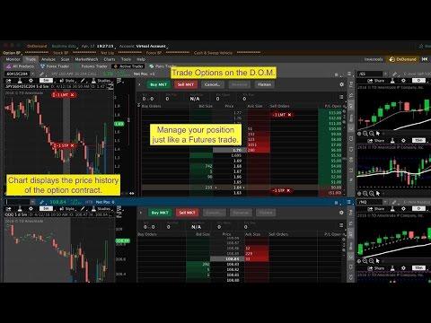 Option spread trading platform