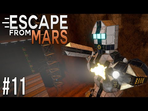 Space Engineers: ESCAPE from MARS! - Ep #11 - DEATH ROBOT?!