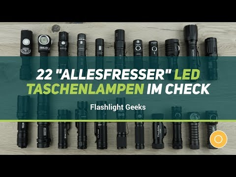 "22 ""Allesfresser"" (14500 Akku / AA Batterie) LED Taschenlampen im Check"