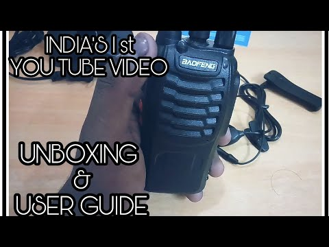 INDIA'S 1st UNBOXING | USER GUIDE| BAOFENG BF-888S Walkie- Talkie || REVIEW – UNBOXING – USER GUIDE