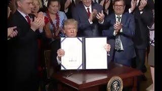 Trump Signs Bill To Revamp Veterans Affairs - Full Speech