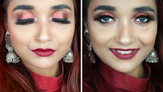 SWISS BEAUTY ONE Brand MAKEUP TUTORIAL - Indian WEDDING GUEST MAKEUP - AFFORDABLE MAKEUP IN RS 500