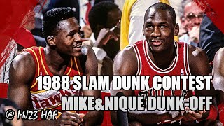 Michael Jordan vs Dominique Wilkins DUNK-OFF (1988 Slam Dunk Contest) - BEST SLAM DUNK CONTEST EVER?