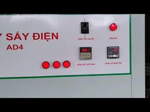 kiểm tra và sấy thử sản phẩm máy sấy Công nghiệp AD4 Ánh dương tại xưởng sản xuất