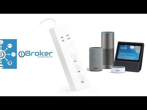Meross 3 Fach Steckdosenleiste + USB 4 Fach in der App Alexa und ioBroker installieren
