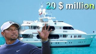 Tiger woods boat size
