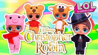DIY Christopher Robin Movie & WINNIE the POOH , TIGGER🐯 PIGLET🐽to LOL Surprise Dolls and Toys
