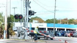 CSX Worker Tries To Replace Gate Before Amtrak Arrives