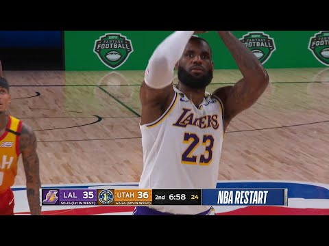 LAKERS vs JAZZ – 1st Half Highlights | NBA Restart