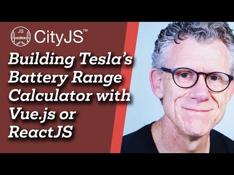 Image thumbnail for talk Building Tesla's Battery Range Calculator with Vue.js or ReactJS