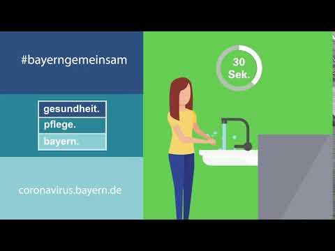#bayerngemeinsam – Händewaschen