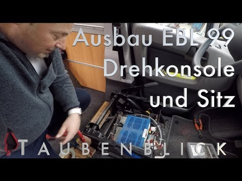 Ausbau EBL 99 Elektroblock, der  Drehkonsole und dem Sitz eines Jumper, Ducato o.ä. #taubenblick
