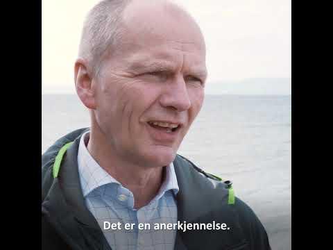 John Olav Tande mottok i natt prestisjetung heder for sitt arbeid med havvind. Foto: Thor Nielsen, video i saken: John-Ivar F. Eidsmo.
