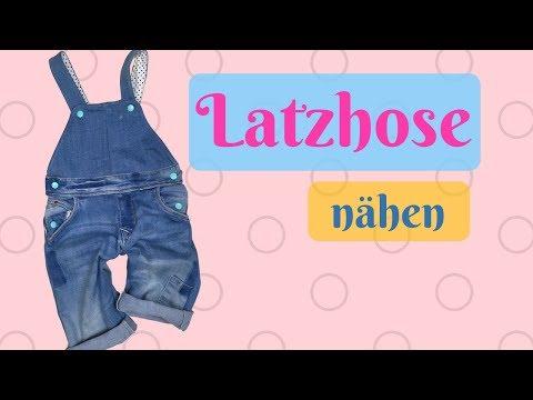 Jeans Latzhose für Kinder aus alter Jeans selber nähen- Nähanleitung mit kostenlosem Schnittmuster
