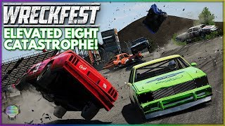 ELEVATED FIGURE 8 CATASTROPHE!   Wreckfest   NASCAR