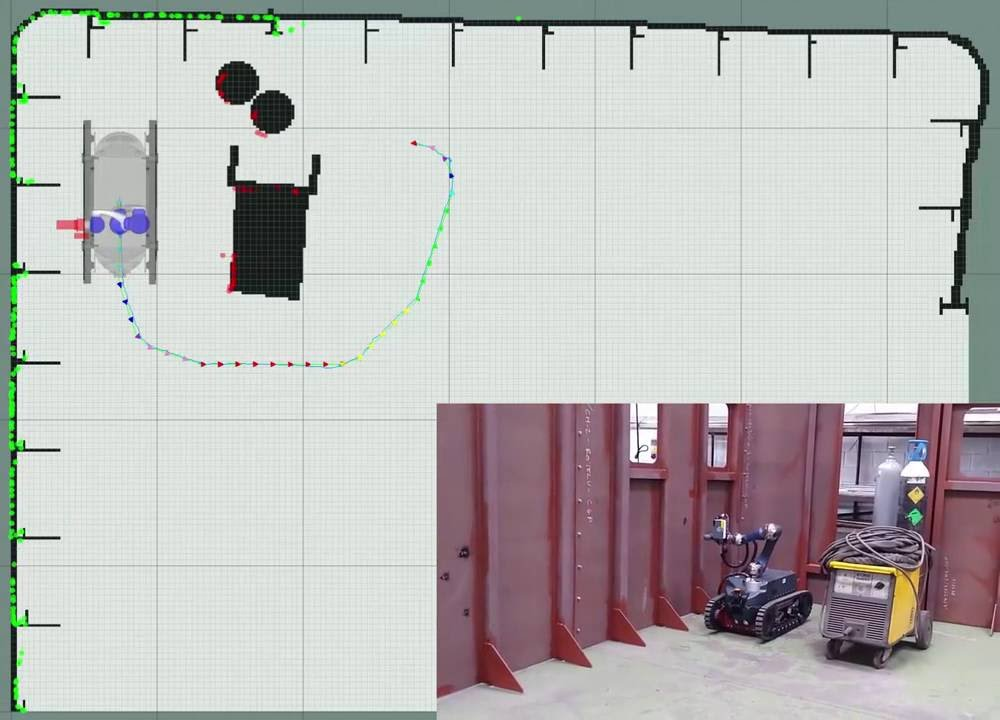 3 DoF localization, navigation and welding tests with the Guardian platform in ship interior