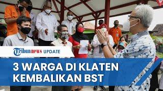 Cek Pembagian BST, Ganjar Kaget Ada Buruh Tani Kembalikan Bansos, Ngaku Tak Mau Dapat Bansos Dobel